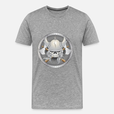 Battle Axe Warriors Viking Warrior Skull - Men's Premium T-Shirt