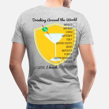 Drink Responsibly Drinking Around the World- Checklist - Men's Premium T-Shirt