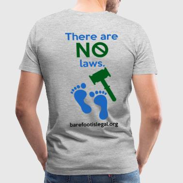 Trafalgar Law There are NO laws. - Men's Premium T-Shirt