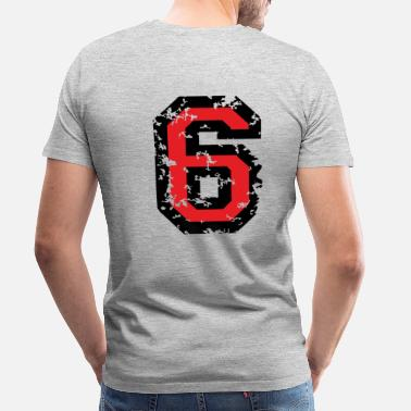 Six Two The Number Six - No. 6 (two-color) red - Men's Premium T-Shirt