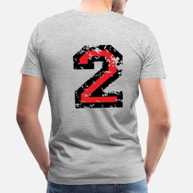 Two Color The Number Two - No. 2 (two-color) red - Men's Premium T-Shirt