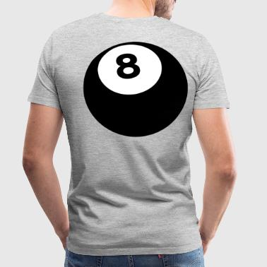 magical snooker eight 8 ball right - Men's Premium T-Shirt