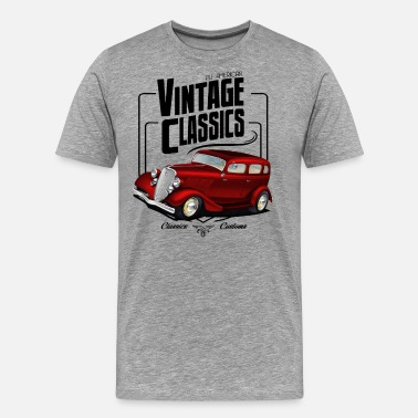 Automobile Vintage Sedan - Men's Premium T-Shirt