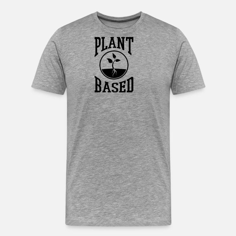 Animal Rights Activists T-Shirts - vegan t shirt plant based - Men's Premium T-Shirt heather gray