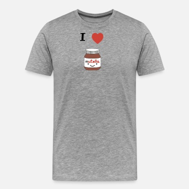 Nutella I LOVE NUTELLA - Men's Premium T-Shirt