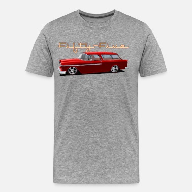 1950s Fifties Fifty Five Wagon - Men's Premium T-Shirt