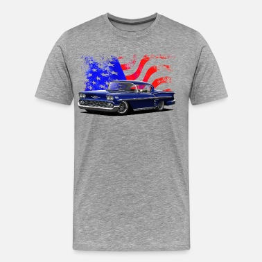 Custom Car Star Stars and Stripes Impala - Men's Premium T-Shirt