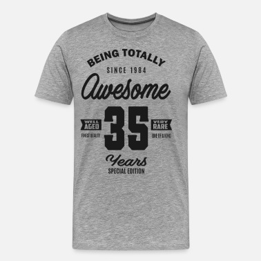 Funny 35th Birthday Awesome 35 Years - Men's Premium T-Shirt