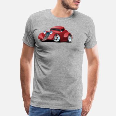2d0a5fea Red Hot Rod Restomod Custom Coupe Cartoon - Men's Premium T-Shirt