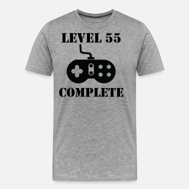 Happy 55th Birthday Level 55 Complete 55th Birthday - Men's Premium T-Shirt