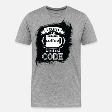 Laravel I turn coffee into code - Software Developer - Men's Premium T-Shirt