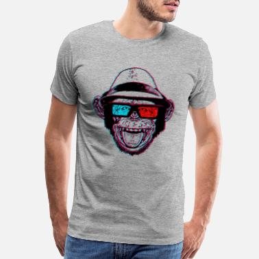 Hipster HIPSTER CHIMP - AKA THE CHIMPSTER - Men's Premium T-Shirt