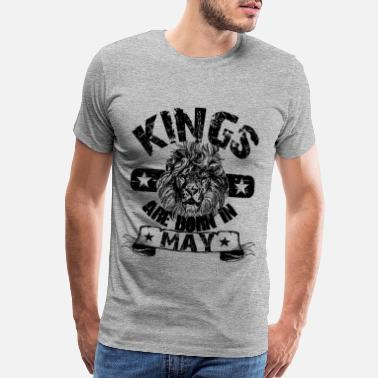 Born In May Kings Are Born In May - Men's Premium T-Shirt