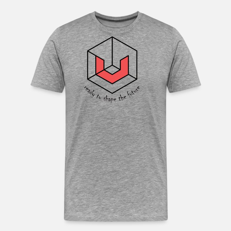 Cryptocurrency T-Shirts - Universa UTN Crypto - Men's Premium T-Shirt heather gray