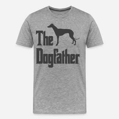 Italian Greyhound The Dogfather Greyhound silhouette funny gift idea - Men's Premium T-Shirt