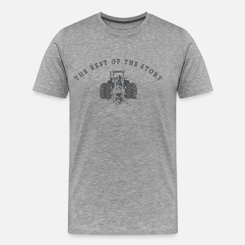 Youtube T-Shirts - The Rest Of The Story - Men's Premium T-Shirt heather gray