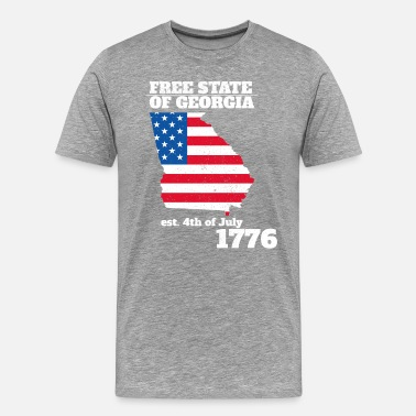 4th Of July 4th of July Independence Day Georgia - Men's Premium T-Shirt