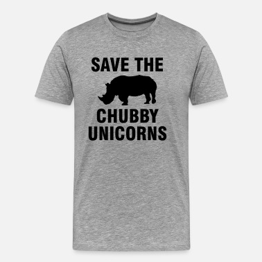 Rhino Save the chubby unicorns - Men's Premium T-Shirt