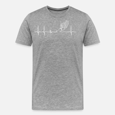 Field Heartbeat Track and Field cool fun gift athlete - Men's Premium T-Shirt