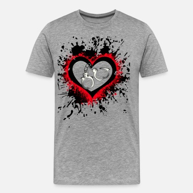 Submission Love handcuffs - Men's Premium T-Shirt