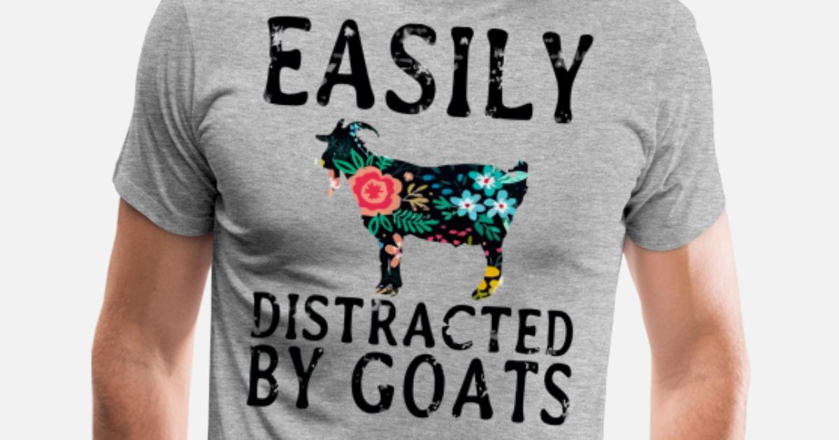 2d4f71db5 Easily distracted by goats Men s Premium T-Shirt
