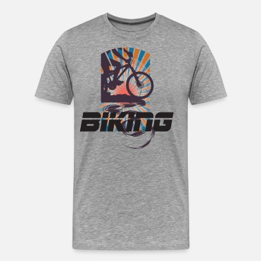 Mens Night Biking - Men's Premium T-Shirt