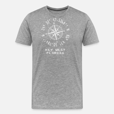 Longitude And Latitude Key West Florida Longitude & Latitude Coordiantes Souvenir - Men's Premium T-Shirt