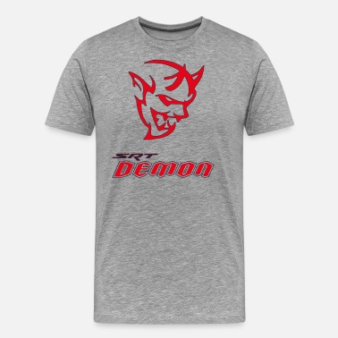 Demon DODGE DEMON HEAD - Men's Premium T-Shirt