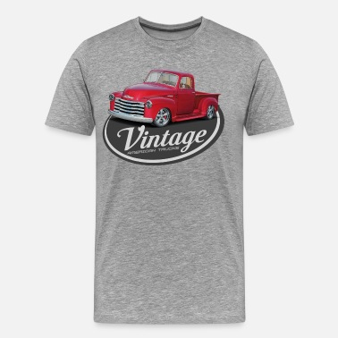 Antique Vintage Red Truck - Men's Premium T-Shirt