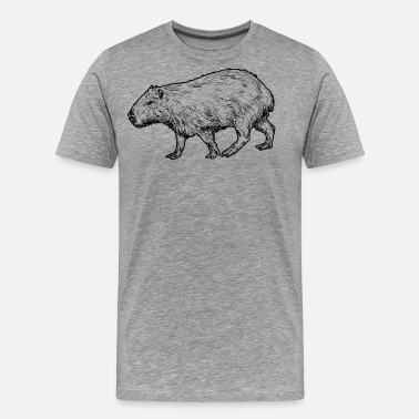 Capybara Capybara watercolor Shirt - Men's Premium T-Shirt