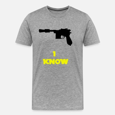 Han And Leia I know Han Quote - Men's Premium T-Shirt