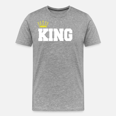 King And Queen Clothing king queen shirt gift for valentine - Men's Premium T-Shirt