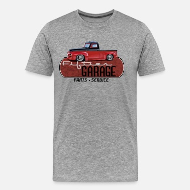 Ford F100 Fifties Garage Truck - Men's Premium T-Shirt