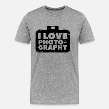 Loves Photography Camera Photography Gift Photographer Photo Cam - Men's Premium T-Shirt
