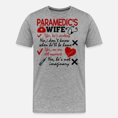 Paramedic Kids Paramedic's Wife - Men's Premium T-Shirt