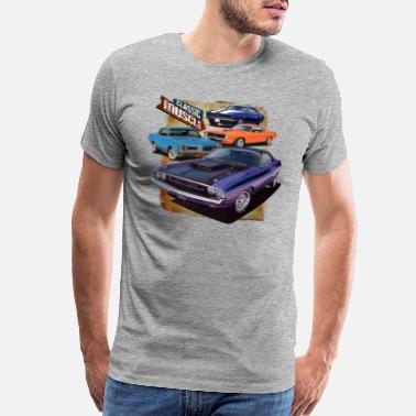 6814a24fc Vintage Muscle Car Classic Muscle cars - Men's Premium T-Shirt