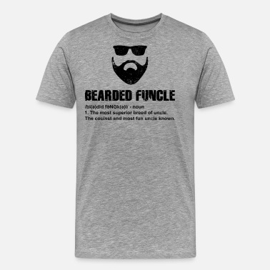 Bearded Funcle T-Shirt Present Gift Birthday Funny Idea - Men's Premium T-Shirt