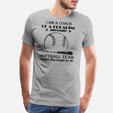 Softball Player Softball Team Coach Shirt - Men's Premium T-Shirt