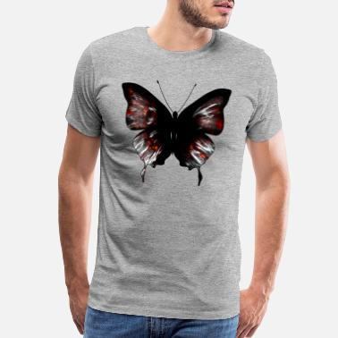 Entomology Vibrant Red Butterfly - Men's Premium T-Shirt