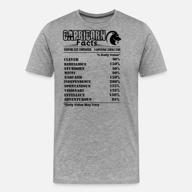 Capricorn Facts Capricorn Shirt - Capricorn Facts T Shirt - Men's Premium T-Shirt
