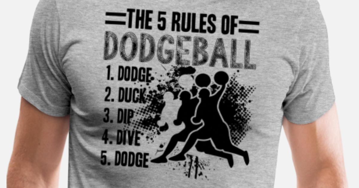 rules  dodgeball shirt mens premium  shirt spreadshirt