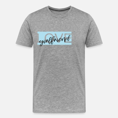 Gay Couple Love girlfriend - Men's Premium T-Shirt