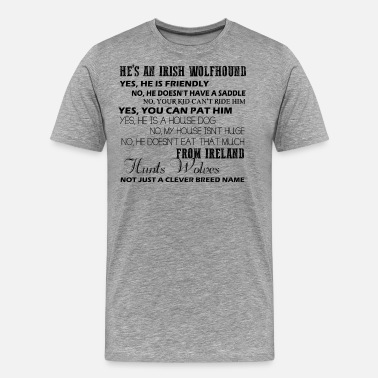 Wolfhound Irish Wolfhound Dog Shirt - Men's Premium T-Shirt