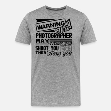 Hazard Warning Warning Photographer Shirt - Men's Premium T-Shirt
