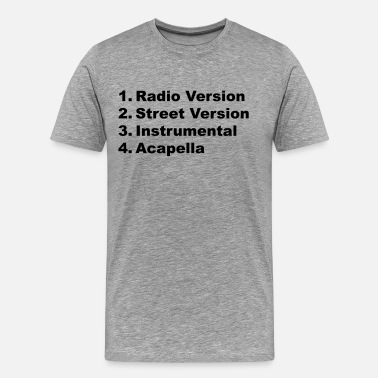 Radio Record radio street version vinyl record - Men's Premium T-Shirt