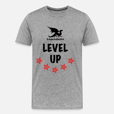 Rap Star Legendaire Level-Up Black - Men's Premium T-Shirt