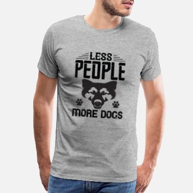 Black Man Funny T-shirt Less People More Dogs - Men's Premium T-Shirt