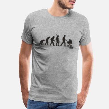 Collect Papa Evolution 2 HARIZ Papa Father's Day Gift - Men's Premium T-Shirt