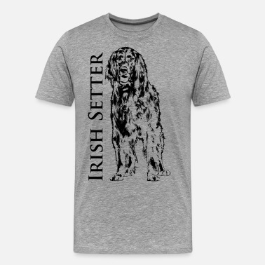 Gundog Irish Setter Dog - Men's Premium T-Shirt