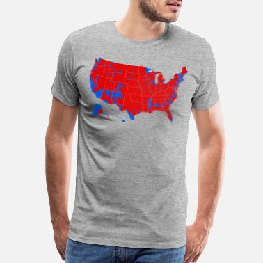 Election 2016 Presidential Election by County - Men's Premium T-Shirt